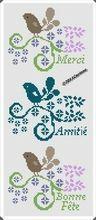 Oiseaux messages merci - Amitié - Bonne fête