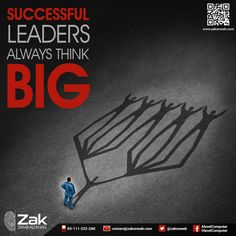 Leaders who are successful and achieve their goals in life, think out-of-the-box. They have the foresight to understand complexities and seize futuristic opportunities. In order to be a capable manager or leader, think big! #Olevel #Alevel #ComputerScience #CIE #ZakOnWeb
