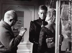 jean renoir | Jean Renoir, Ingrid Bergman and Mel Ferrer on the set of Elena et les ...
