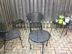 Used primer/paint combo to refresh old patio furniture.