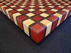 Checker Board Pattern End Grain Cutting Board by ArtisanWoodwright