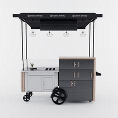 Kiosk Design, Cafe Design, Vendor Cart, Mobile Food Cart, Food Cart Design, Mini Cafe, Best Food Trucks, Coffee And Books, Useful Life Hacks
