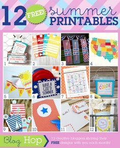 12 FREE Summer Printables