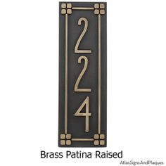 For your American Craftsman Home. The font is simple, classic, no nonsense, design would be very representative of the American Craftsman movement and a good fit for your bungalow, mission, prairie, or arts and crafts home. Size: 6 W x 18 H and 1 Thick **UP TO 3 HOUSE NUMBERS at 4.5 tall You