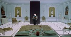 """Bernie's mittens visit """"2001 A Space Odyssey Ken Adams, 2001 A Space Odyssey, One Point Perspective, Movie Shots, Classic Sci Fi, Classic Films, Stanley Kubrick, Sci Fi Movies, Space Movies"""