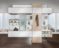 Wohnregal als Raumteiler | P.MAX Massmöbel - Tischlerqualität aus Österreich My Room, Floating Shelves, Shelving, Diy Home Decor, Divider, Interior, Furniture, Nest, Ideas