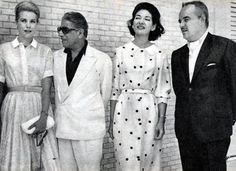 Aristoteles Onassis, Maria Callas, Prince Rainier, Princess Grace of Monaco