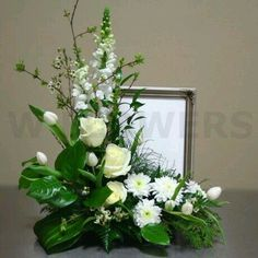New Flowers Arrangements Funeral Centerpieces Ideas Altar Flowers, Church Flowers, Funeral Flowers, Silk Flowers, Wedding Flowers, White Flowers, Flowers Garden, Funeral Floral Arrangements, Large Flower Arrangements