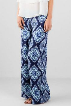 Like the idea of Palazzo pants - not sure I can pull them off. Hanua Printed Palazzo Pants