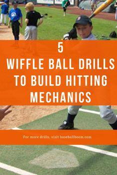 5 Wiffle Ball Hitting Drills For Awesome Batting Mechanics (With Tips! Hitting Drills Softball, Baseball Pitching, Baseball Training, Baseball Mom, Batting Tee, Wiffle Ball, Softball Equipment, Little League Baseball, Sports Mom