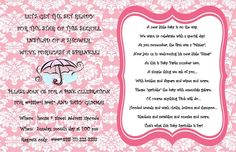 Sprinkle shower invitation for baby number two!