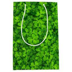Shamrocks Clover Leaves St. Patrick's Day Fun Medium Gift Bag