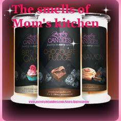 check out our different scents...pick candle or tart..the choose your surprise...necklace or ring or earrings.. www.jewelryincandles.com/store/patriciaway