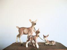 vintage deer family