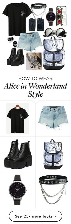"""""""Untitled #45"""" by zouz-b on Polyvore featuring Disney, T By Alexander Wang, Olivia Burton and Zanellato"""