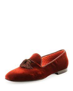 William Velvet Evening Slipper by Tom Ford at Bergdorf Goodman.