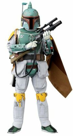 Star Wars:Real Action Doll - Boba Fett by Tomy Direct. $115.03. Assembly is required.. Import Japanese product contains Japanese text packaging.. The Real Action Doll series continues paying tribute to Star Wars with this Boba Fett figures from The Empire Strikes Back! He comes with a metal endo-skeleton, which is super posable, and can be dressed up with all of his armor, weapons, helmet, etc., with 32 pieces in all! It includes a cloth suit, shoulder cape and wooki...