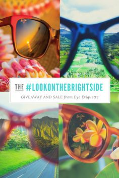 #LookOnTheBrightSide GIVEAWAY AND SALE  👓 Purchase a pair of glasses or sunglasses from Eye Etiquette this March and be entered to win a pair of Maui Jim sunglasses from Eye Etiquette!  For extra entries, share what makes you #LookOnTheBrightSide and tag Eye Etiquette Optical Boutique on social media.   For More info visit: http://www.eyeetiquetteoptical.ca/2017/03/01/win-a-pair-of-maui-jim-sunglasses/