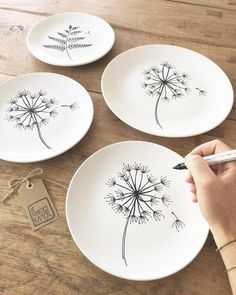 ok the webshop is open again! And the first orders are already today the door Sharpie Plates, Sharpie Crafts, Sharpie Art, Diy Jewelry Unique, Diy Jewelry To Sell, Pottery Painting Designs, Pottery Designs, Diy Clay, Clay Crafts