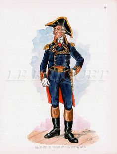 French; Marine Chef de Division Officier General, c.1798