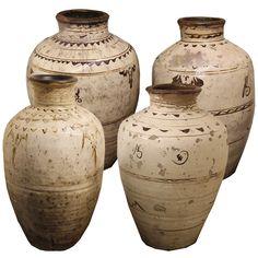 A Set of Four Han Dynasty Glazed Earthenware Jars 4518 - C. Mariani Antiques, Restoration & Custom, San Francisco, CA.
