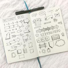 """Mira estos dibujos para que los uses en tu """"Interactive Journal"""" Que bonitos verdad? Unas ideas geniales de esta persona hacen una gran diferencia en tu Journal. M. Melara"""