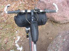 Black vx-42 top tube bag and carrier by Bolder Bikepacking Gear, via Flickr