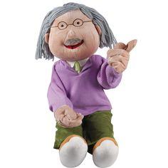 Con estas detalladas y cuidadosamente diseñadas marionetas, los niños siempre pueden recrear conversaciones cotidianas y así sentirse adultos.  Medidas aproximadas: 80 aprox cm Edad recomendada: Desde 3 años. Precio: 44.90 €