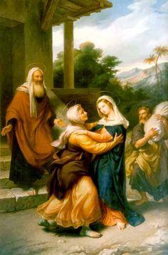 San Zacarías y Santa Isabel con la Santísima Virgen María (La Visitación)