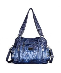 379e231443 Roomy Fashion Hobo Womens Handbags Ladies Purses Satchel Shoulder Bags Tote  Washed Leather Bag - Ak161513 - C118DLA8NZ9