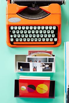 The Most Colorful Apartment We've EVER Seen #refinery29  http://www.refinery29.com/bradford-shellhammer-home-tour#slide-5  Orange mingles with a minty shade to stunning effect.