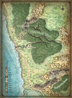 Mapa Costa Espada - Mapa dos Jogadores
