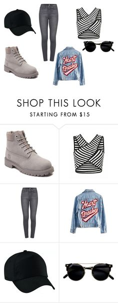 """grey timberlands"" by projekttrool on Polyvore featuring moda, Timberland, Paige Denim i High Heels Suicide"