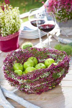 14 besten diy himmlisches heidekraut bilder auf pinterest floral arrangements flower - Herbstdeko mit erika ...