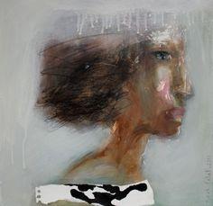 The sand and the wind (Peinture),  50x2x50 cm par anne patay acrylic on canvas