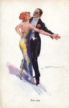 Delcampe – La plus grande marketplace pour les collectionneurs Vintage Posters, Vintage Art, Tango Art, Art Deco Illustration, Vintage Illustrations, Dancing Drawings, Dance Images, Decoupage Art, Shall We Dance