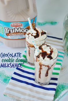 Chocolate Cookie Dough Milkshake Recipe