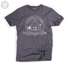 Superluxe™ Mens Hershels Farm Vintage Stlye Zombie Apocalypse Barn T-Shirt, X-Large, Dark Gray (*Amazon Partner-Link)