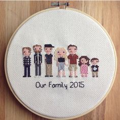 Hey, I found this really awesome Etsy listing at https://www.etsy.com/listing/221074289/custom-family-portrait-cross-stitch