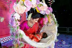 """We are the top naming ceremony planners, organisers, and decorators in Pune. Naming Ceremony is also known as """"Cradle"""" and in Marathi """"Barsa"""" or """"Namkaran Sohala"""". NANDINI Events have Beautiful naming ceremony decorations. Naming Ceremony Decoration, Marriage Decoration, Ceremony Decorations, Flower Decorations, Festival Decorations, Paper Decorations, Baby Shower Dresses, Baby Shower Themes, Baby Shower Decorations"""