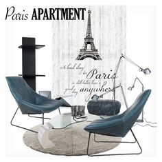 """""""Paris Space"""" by fatime-style-art ❤ liked on Polyvore featuring interior, interiors, interior design, home, home decor, interior decorating, Stellar Works, Mikasa, Artemide and parisapartment"""