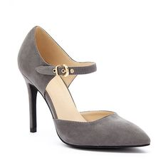 Wild Diva Dark Gray Bessy D'Orsay Pump ($19) ❤ liked on Polyvore featuring shoes, pumps, dark gray shoes, dark grey pumps, high heel shoes, synthetic shoes and d'orsay pumps