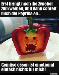 Erst bringt mich die Zwiebel zum weinen, und dann.. | Lustige Bilder, Sprüche, Witze, echt lustig