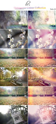 Beautiful outrageous colours photoshop action pack