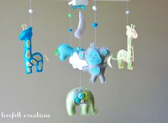 Safari Friends Nursery Mobile