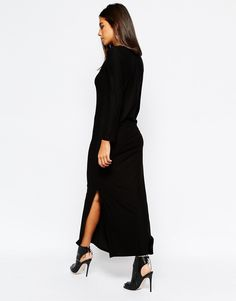 Image 2 ofSisley Maxi Dress in Black with Side Split