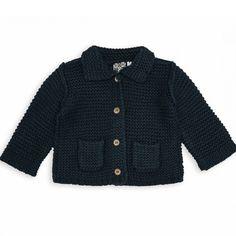 chaqueta para bebé de punto bobo bonton