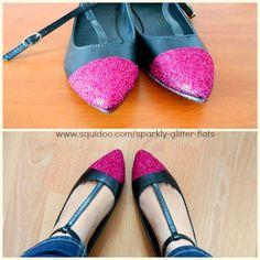 Glitter ballet flats DIY