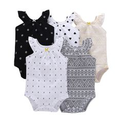 d8a244a9b51aa 5 Pieces Lot Baby Bodysuit Infant Jumpsuit Overall Short Sleeve Body Suit Baby  Clothing Set Summer Cotton Baby Girl Clothes