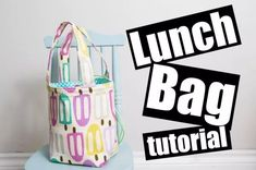 How to Sew a Drawstring Lunch Bag A free sewing video tutorial with Charmed by Ashley Bag Patterns To Sew, Pdf Sewing Patterns, Free Sewing, Sewing Tutorials, Quilting Patterns, Modern Quilting, Video Tutorials, Sewing Ideas, Sewing Projects